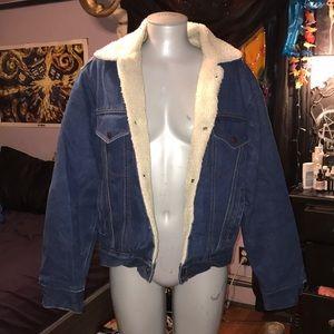 Jackets & Blazers - Fur lined denim jacket size small/ medium